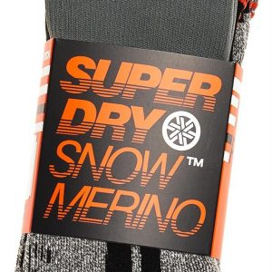 Superdry Snow Merino Sock Double Pack Black/Grey Marle Mix