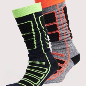 Superdry Snow Merino Sock Double Pack Hyper Black/Hyper Navy Mix