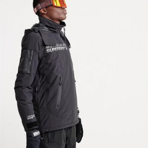 Superdry Snow Snow Rescue Overhead Jacket Onyx Black