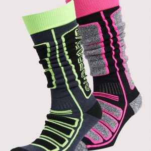 Superdry Snow Merino Sock Double Pack. Hyper Navy/Hyper Gry Marle Mix