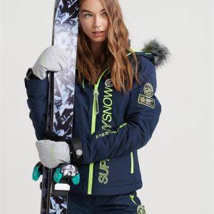 Superdry Snow Sd Ski Run Jacket Vortex Navy