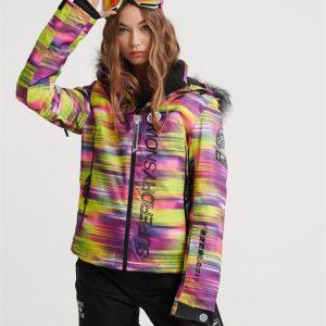 Superdry Snow Sd Ski Run Jacket Fluro Kinetic