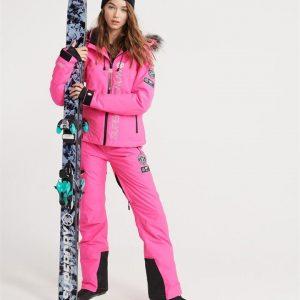Superdry Snow Sd Ski Run Pant Luminous Pink Grit