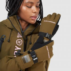 Superdry Snow Rescue Snow Gloves Dusty Olive