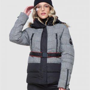 Superdry Snow Chamonix Puffer Black Check