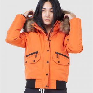 Superdry Snow Everest Down Snow Bomber. Havanna Orange