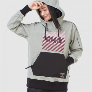 Superdry Snow Freestyle Tech Overhead Grey Marle