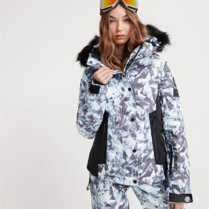 Superdry Snow Luxe Snow Puffer Frosted Blue Ice