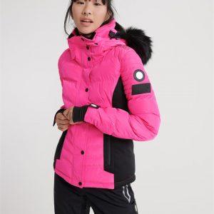 Superdry Snow Luxe Snow Puffer Luminous Pink Sheen
