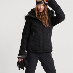 Superdry Snow Luxe Snow Puffer Onyx Black Frost