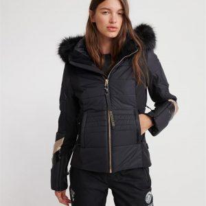 Superdry Snow Ski Fit Jacket Flat Black