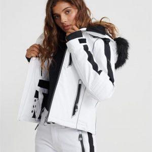 Superdry Snow Ski Carve Jacket Arctic White