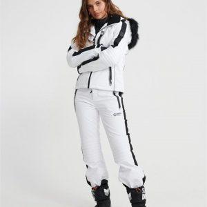 Superdry Snow Ski Carve Pant Arctic White