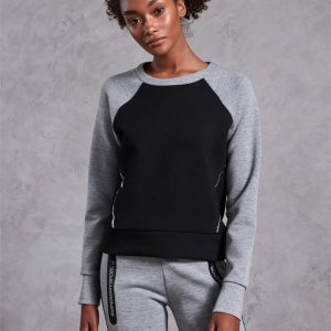 Superdry Sport Core Gym Tech Panel Crew City Grey Marle