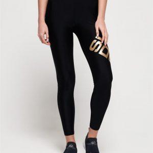 Superdry Sport Bolt Sport Legging Black/Gold