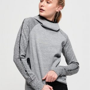 Superdry Sport Core Gym Tech Taped Funnel City Grey Marle