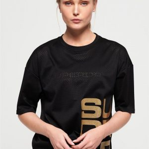 Superdry Sport Bolt Sport Tee Black/Gold