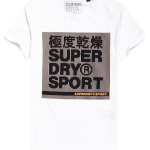 Superdry Sport Core Graphic Ss Tee Optic White