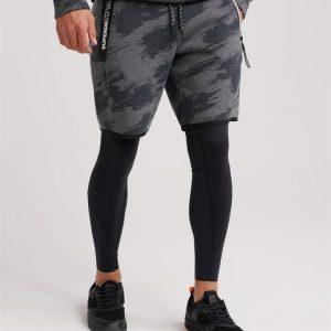 Superdry Sport Core Gym Tech Short Asphalt Marle/Sketch Camo
