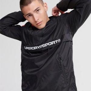 Superdry Sport Streetsport Overhead Jacket Black