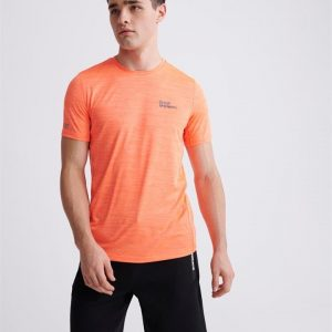 Superdry Sport Training Tee Bright Havana Orange Space Dye