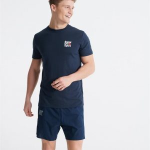 Superdry Sport Core Sport Small Logo Tee Dress Blue