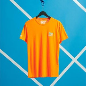 Superdry Sport Core Sport Small Logo Tee Bright Havana Orange