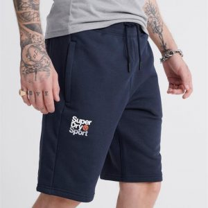 Superdry Sport Core Sport Shorts. Dress Blue