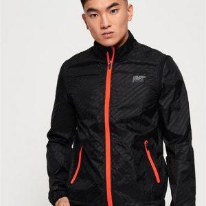 Superdry Sport Active Convertible Jacket Black Reflective Diagonal