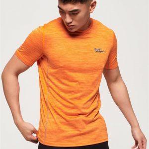 Superdry Sport Active Training S/S Tee Bright Orange Space Dye