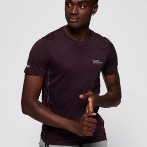 Superdry Sport Active Training S/S Tee Fig Marle Space Dye