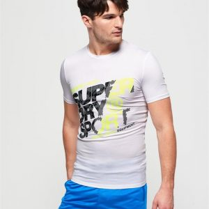 Superdry Sport Active Graphic Tee White