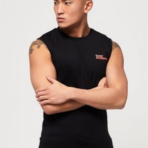 Superdry Sport Active Small Logo Graphic Tank Black
