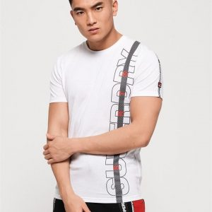 Superdry Sport Core Taped Tee White