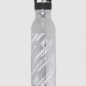 Superdry Sport Stainless Steel Sports Bottle Silver Aop Chrome