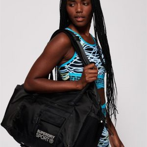 Superdry Sport Sports Duffle Bag Black
