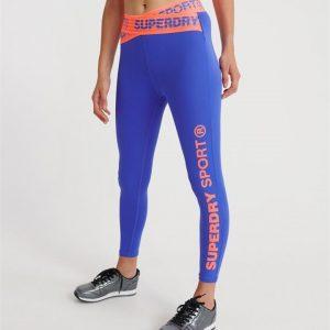 Superdry Sport Core Cross 7/8 Leggings Electric Blue