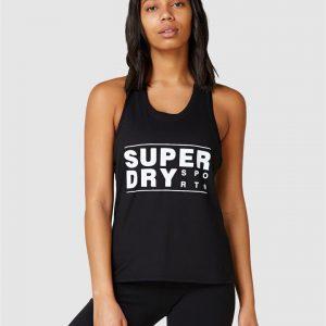 Superdry Sport Core Sport Graphic Vest. Black