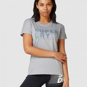 Superdry Sport Core Sport Graphic Tee... Grey Marle