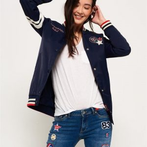 Superdry Pacific Patch Bomber Navy