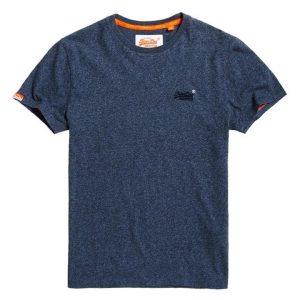 Superdry Orange Label Vintage Emb Tee Deep Lagoon Grit