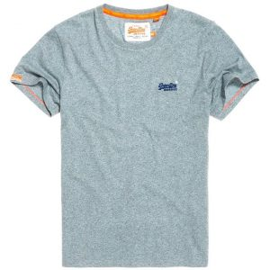 Superdry Orange Label Vintage Emb Tee Pale Aqua Grit