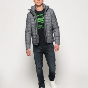 Superdry Hooded Box Quilt Fuji Grey Marle