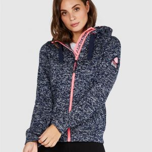 Superdry Storm Colour Pop Ziphood Nvy Blizzard Marle/Fusion Pink