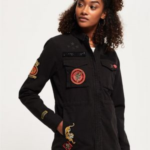 Superdry Rookie New Army Jacket Washed Black