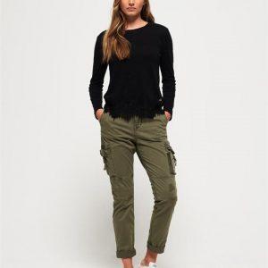 Superdry Girlfriend Cargo Pant Army Sage