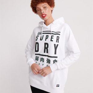 Superdry Deysi Graphic Hood Bright White