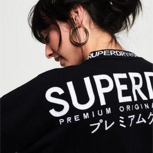 Superdry Kura Crew Black