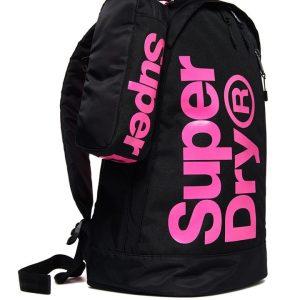 Superdry Academy Freshman Backpack Black/Pink