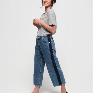 Superdry Phoebe Wide Leg Granite Blue